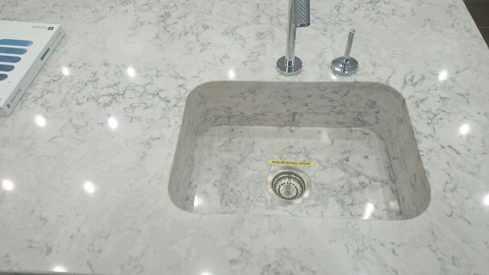 Cosentino Integrated Helix Polished Silestone Kitchen Sink Grey Kitchen Cabinets