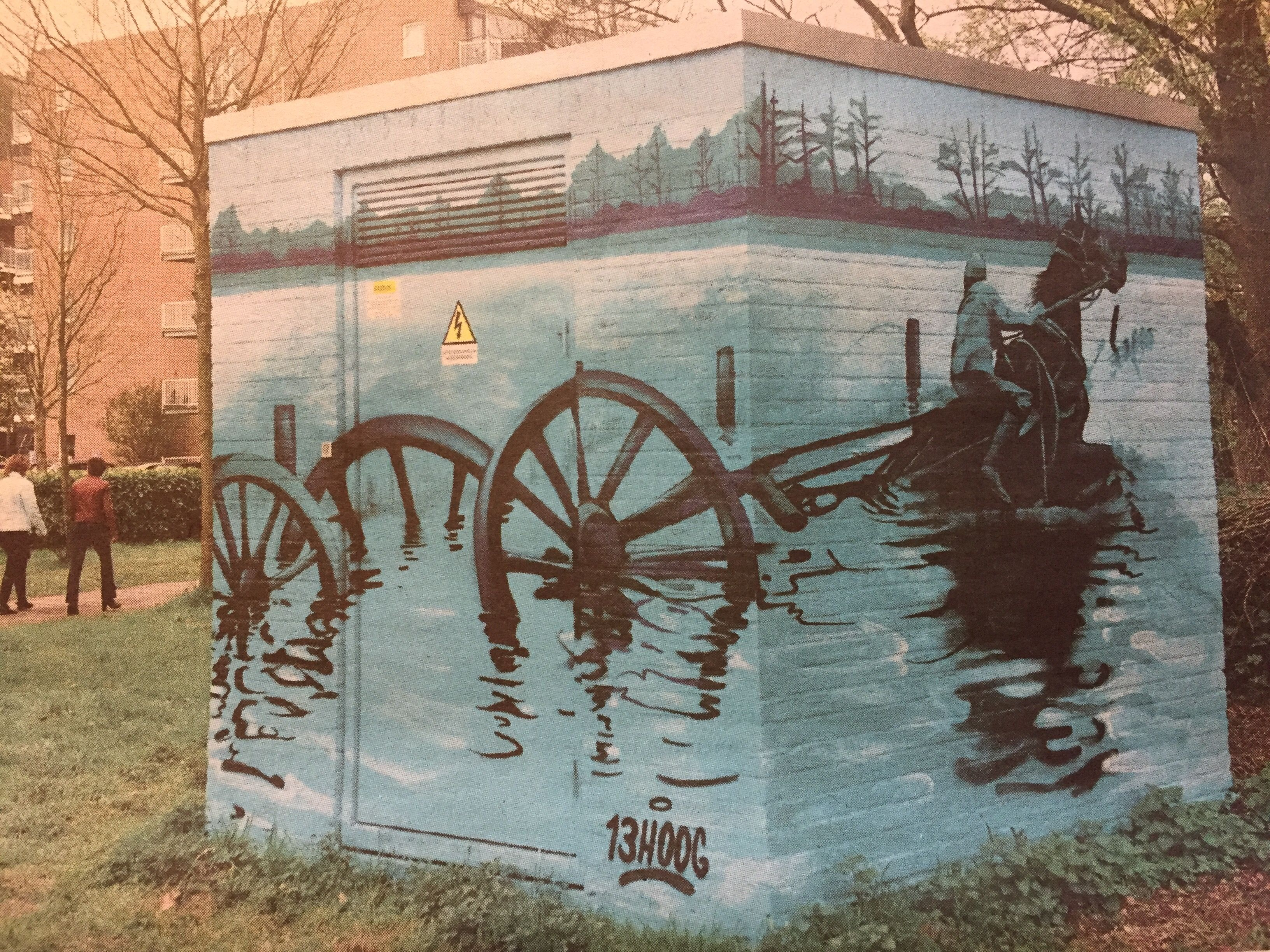 Grebbelinie Streetart Leusden Artist HOOG Vd Haterd Street Art - Artist creates clever street art installations that interact with their surroundings