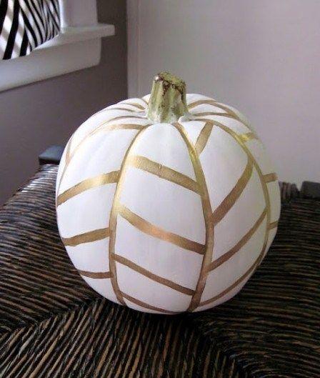 citrouilles halloween blanche et dor no carving white. Black Bedroom Furniture Sets. Home Design Ideas