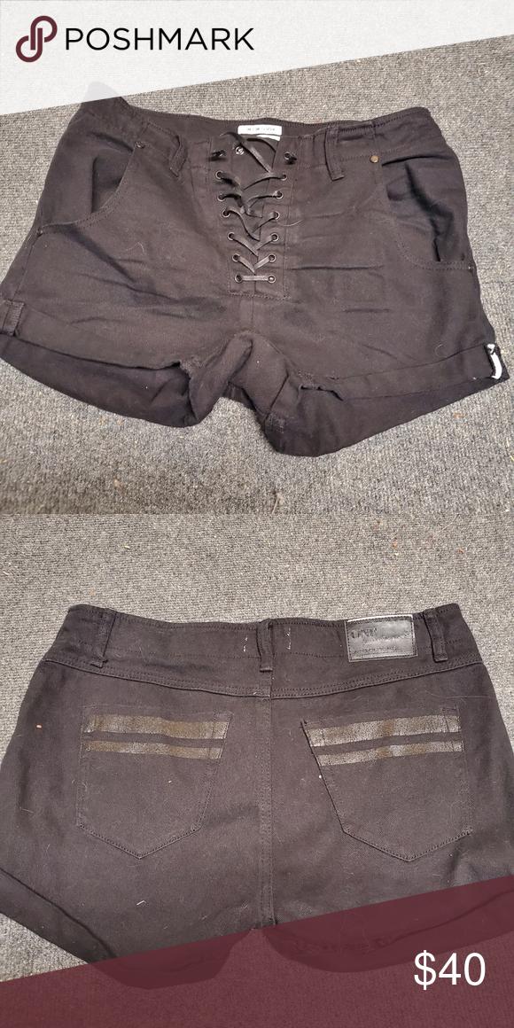 One Teaspoon Super Freak Shorts Size 30 Black Lace Up Denim Shorts Great Condition One Teaspoon Shorts Jean Shorts In 2020 Denim Shorts One Teaspoon Shorts Shorts