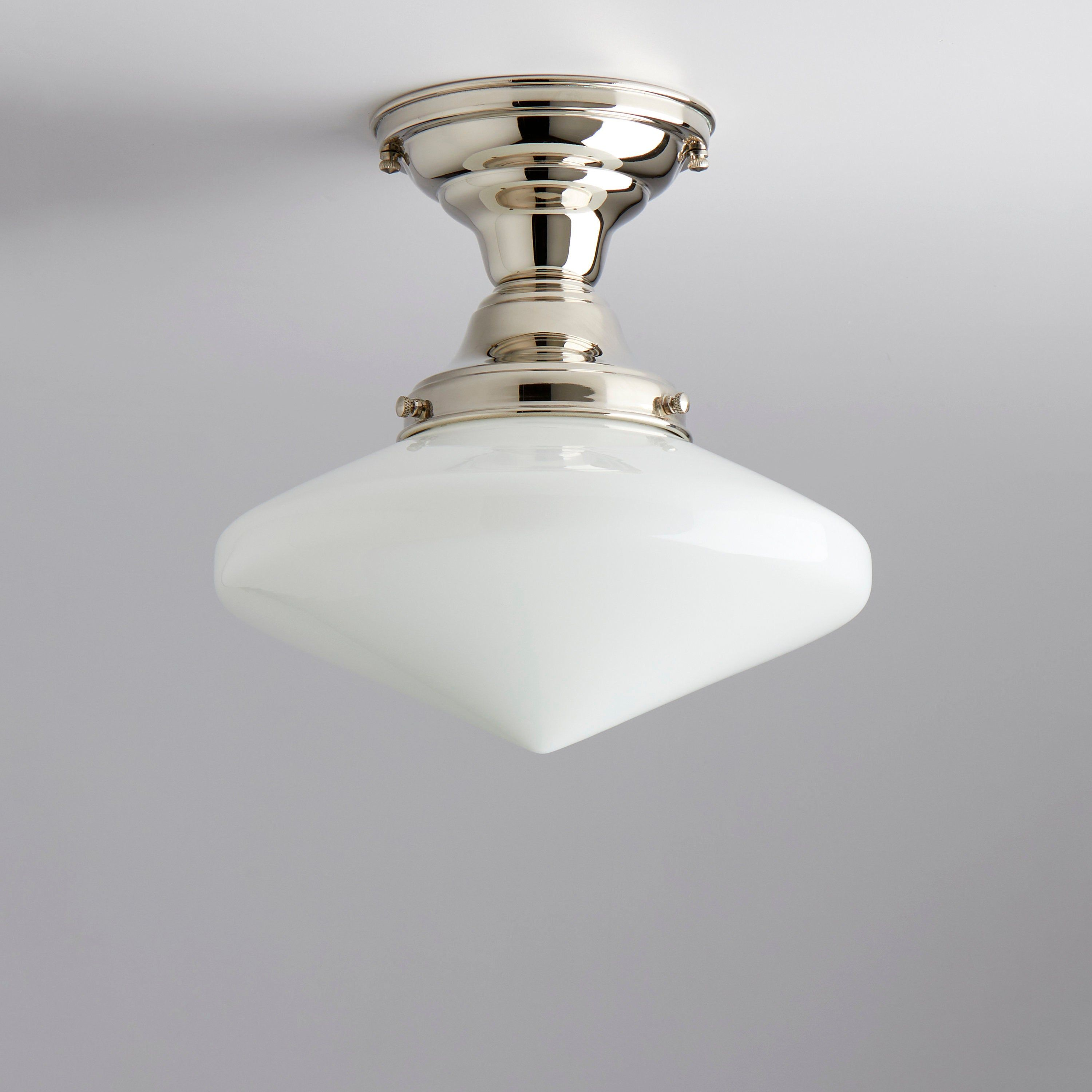The Classic Flush Mount Schoolhouse Light Fixture Has Been Taken To A Whole New Level Featuring A Vinta School House Lighting Vintage Ceiling Lights Cfl Bulbs