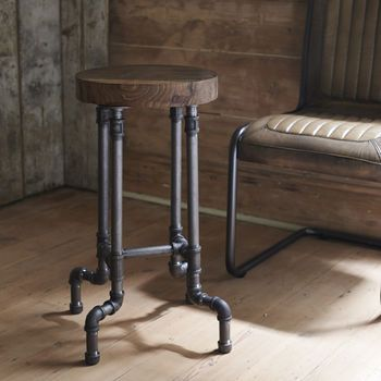 Industrial Steel Pipe Stool In 2019 For The Home Pipe