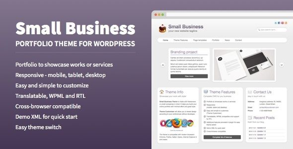 Small Business Portfolio Theme For WordPress