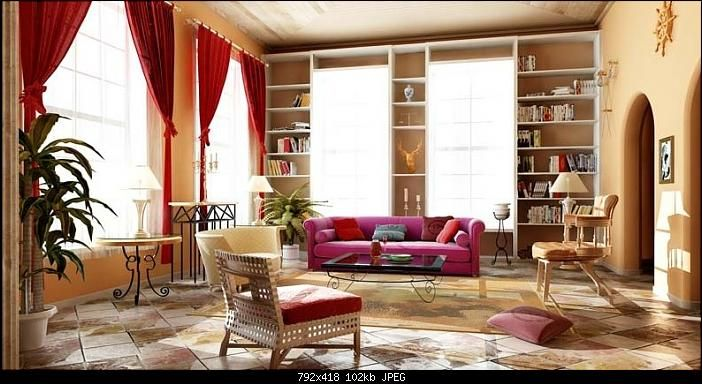 Free Living Room Design Continental Retro Living Room 3D Model Free Download Large