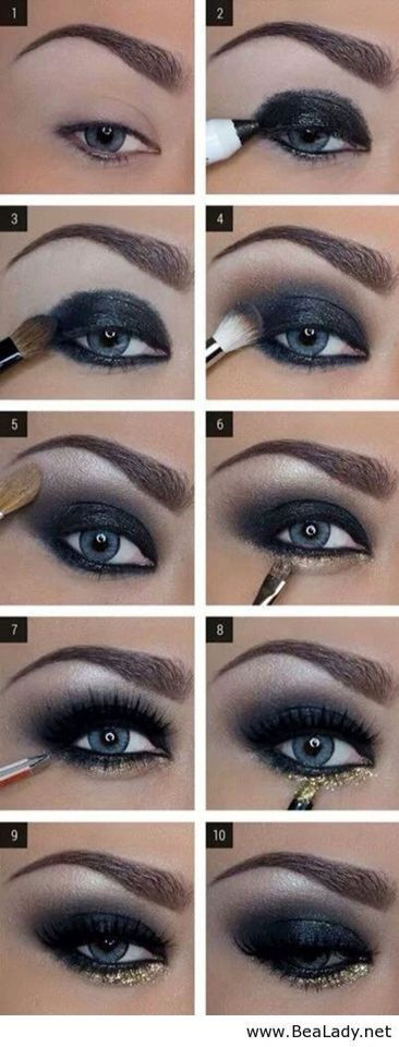 Sombras De Ojos Paso A Paso Maquillaje De Ojos Ahumados Como Maquillar Ojos Ahumados Sombras De Ojos