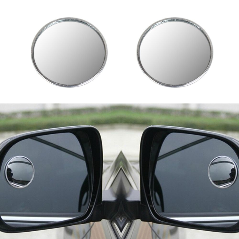 2 X 2inch Blind Spot Rear View Mirrors Rearview Wide Angle Round Convex Mirror For Car Truck Car Rear View Mirror Rear View Mirror Blinds