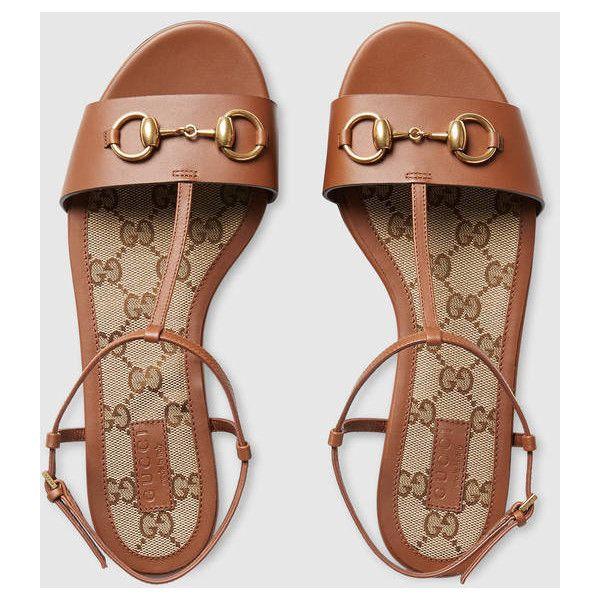 Gucci Leather T-Strap Sandal (7 670 ZAR