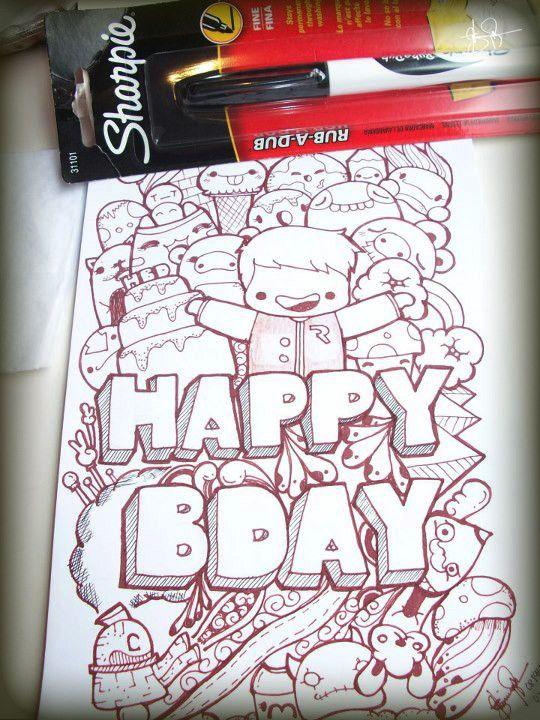 happy birthday doodle - Google Search
