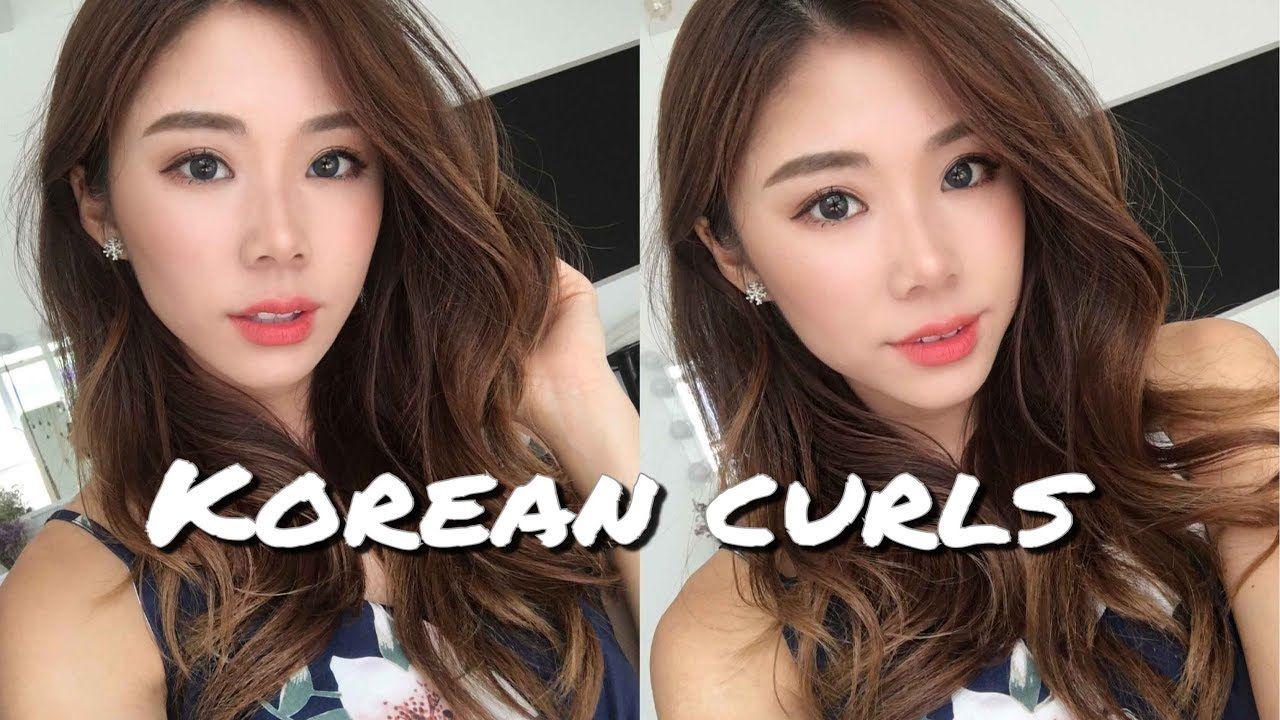 Natural Korean Waves Curls Hairstyle Mongabong Youtube Curled Hairstyles Waves Hair Tutorial Hair Waves