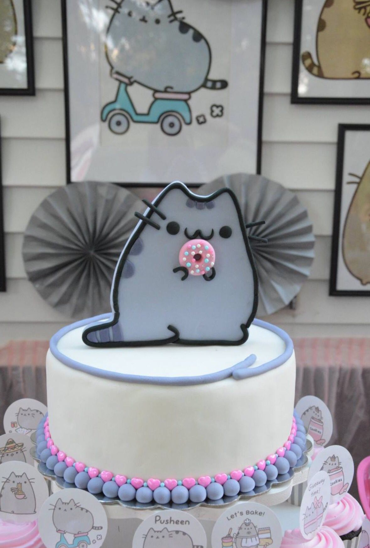 Pusheen The Cat Birthday Cake Pusheen The Cat Party By
