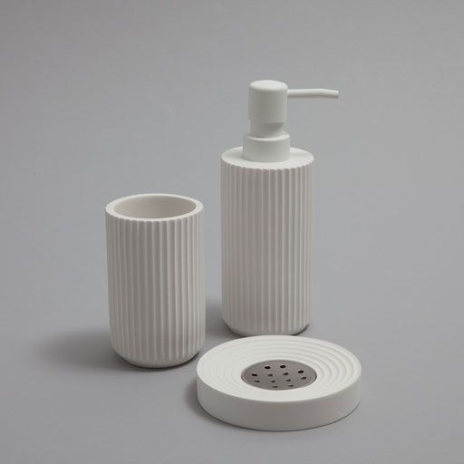 Image of the product Striped bathroom set
