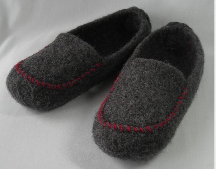Felted Slipper Sewing Pattern | Found on patternpile.com | Projects ...