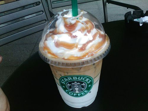 Iced Caramel Macchiato With Whipped Cream I Currently Live