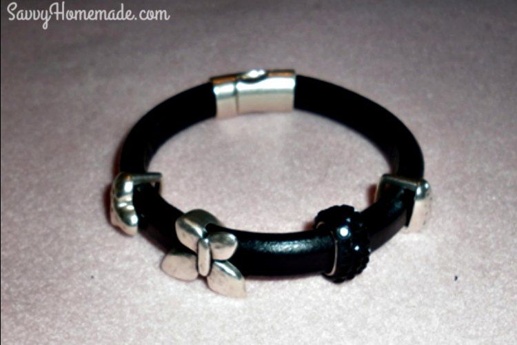 My daughter requested one of those custom leather bracelets for her birthday so I found a DIY tutorial on how to make leather bracelets at a fraction of the cost.