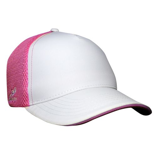 1f4c77699cce6 Our white and hot pink blank trucker hat is both comfortable and stylish