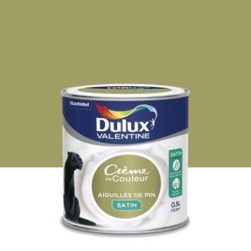 Peinture Multisupports Crème De Couleur DULUX VALENTINE, Aiguilles De Pin  Satin, 0.5L