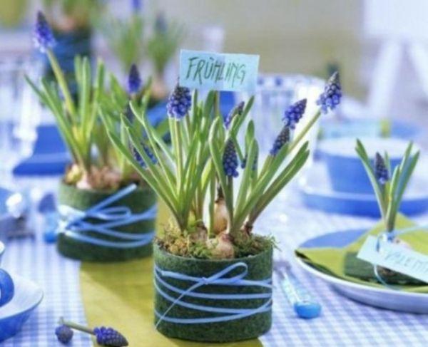 blau blumen tischdecke  Taufe  Tischdekoration konfirmation Tischdeko taufe junge und