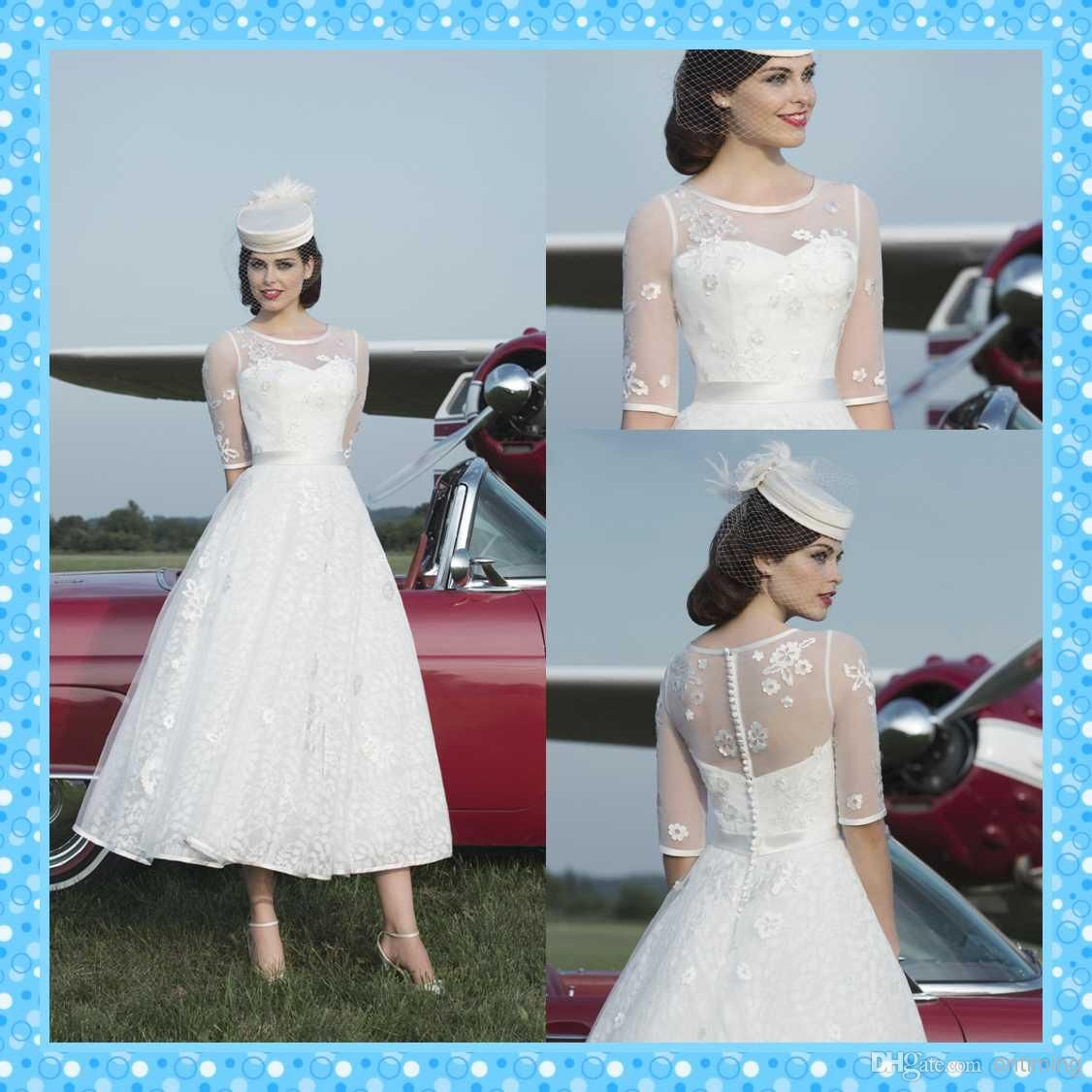 2015 Spring Design Stewardess Ball Gown Wedding Dresses with Half ...