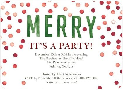 Keep Coming Back To This One  Flat Holiday Party Invitations A