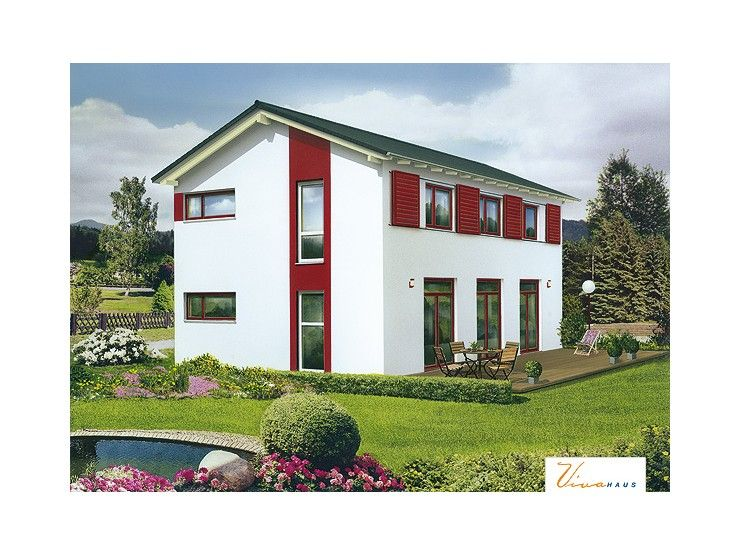 Massivhaus modern satteldach  Auenstein - #Einfamilienhaus von VIVA MASSIVHAUS GmbH | HausXXL ...