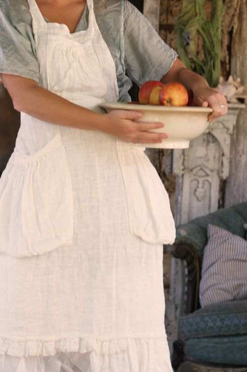 My mother always wore an apron.