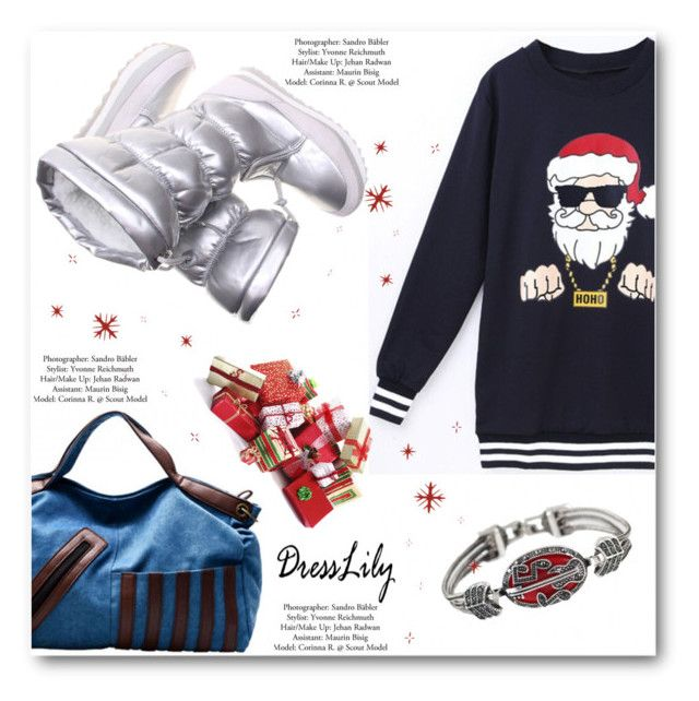 """""""dresslily.com 81"""" by angelstar92 ❤ liked on Polyvore featuring vintage, women's clothing, women's fashion, women, female, woman, misses, juniors, dresslily and SantaClause"""