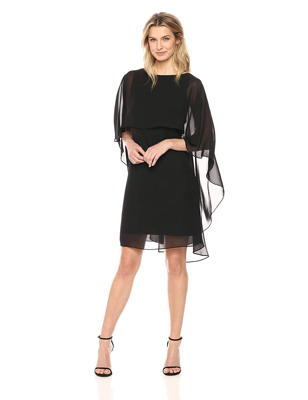 Tiana Womens Chiffon Capelet Dress In 2019 Capelet Dress