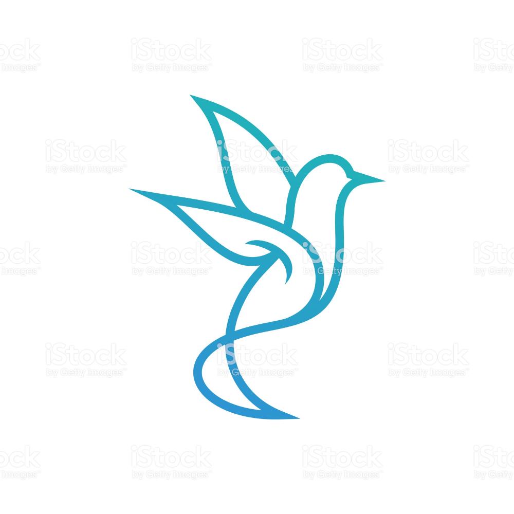 Hummingbird logo template, Bird icon design vector Icon