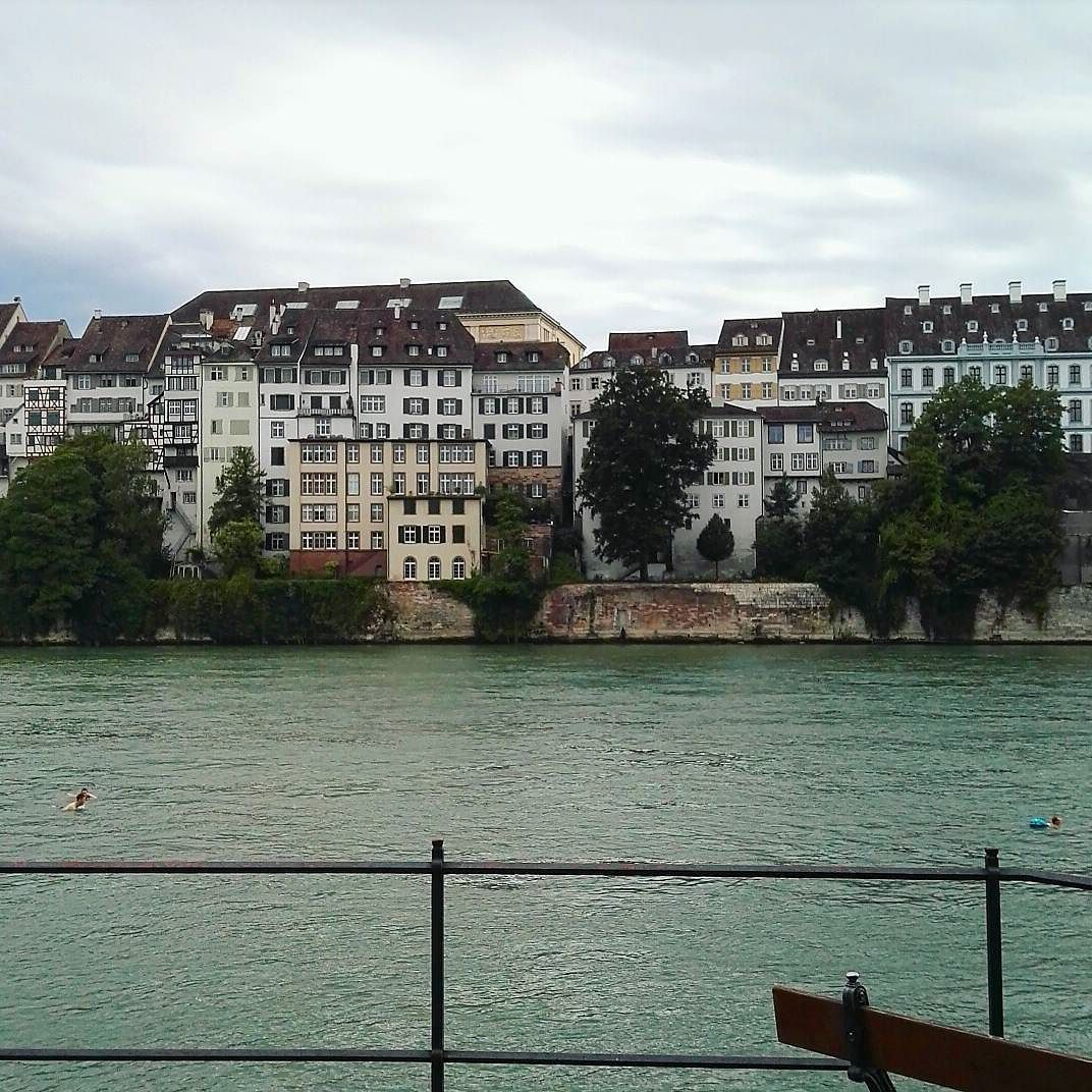 Basel Where People Swim In The Rhine Alongside Giant Contain - Swiss river to the rhine