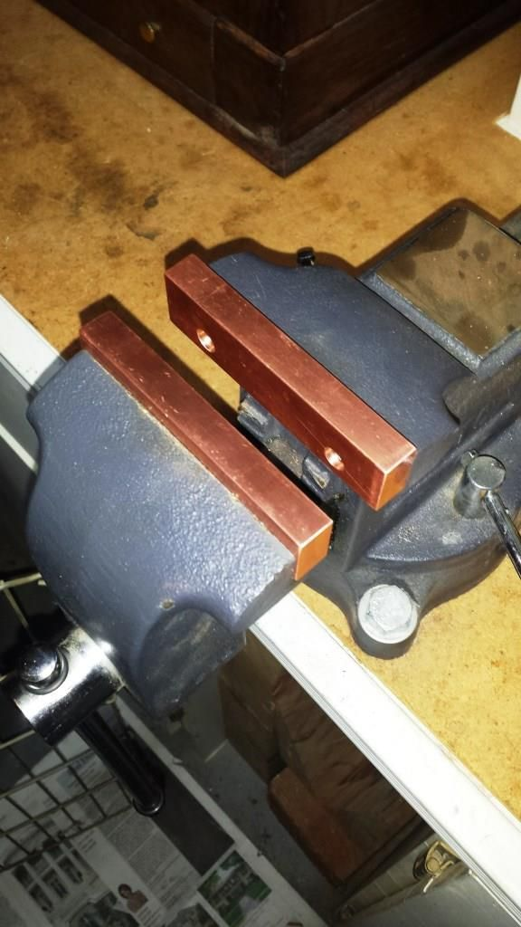 Copper Soft Jaws For Bench Vise By Paul Jones Ever Since