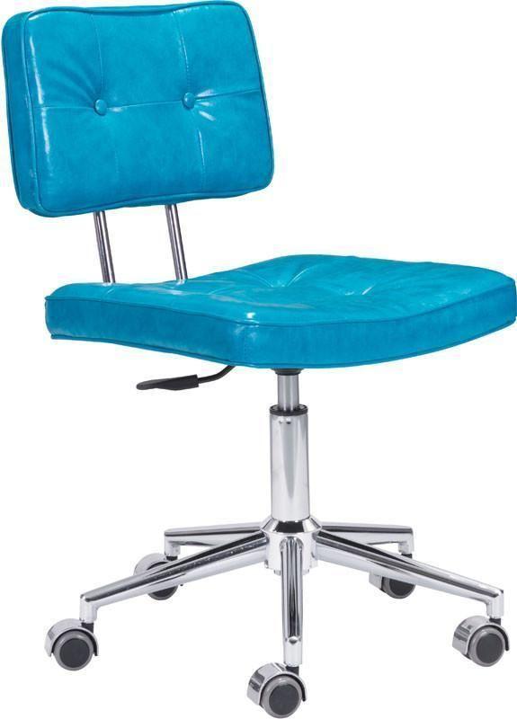 Tremendous Zuo Modern 100238 Series Office Chair Color Blue Chromed Uwap Interior Chair Design Uwaporg