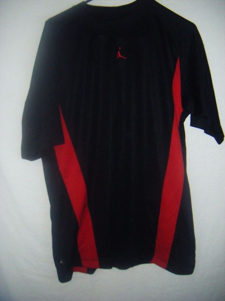 Michael Jordan Jumpman mens training jersey medium polyester black red sewn logo #Jumpman #Jerseys
