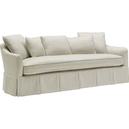 Gracious And Inviting: The Soiree Skirted Sofa.