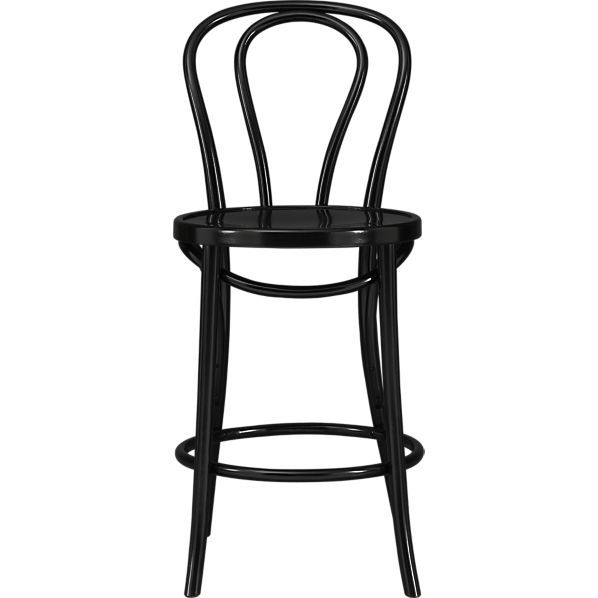 Vienna Black 24 Counter Stool In Barstools Crate And Barrel