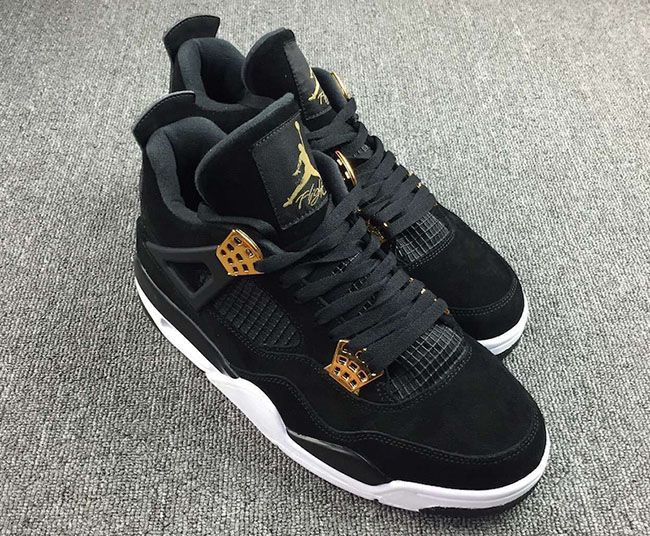 9c722f1ed537e1 Air Jordan 4 Royalty Black Metallic Gold 2017