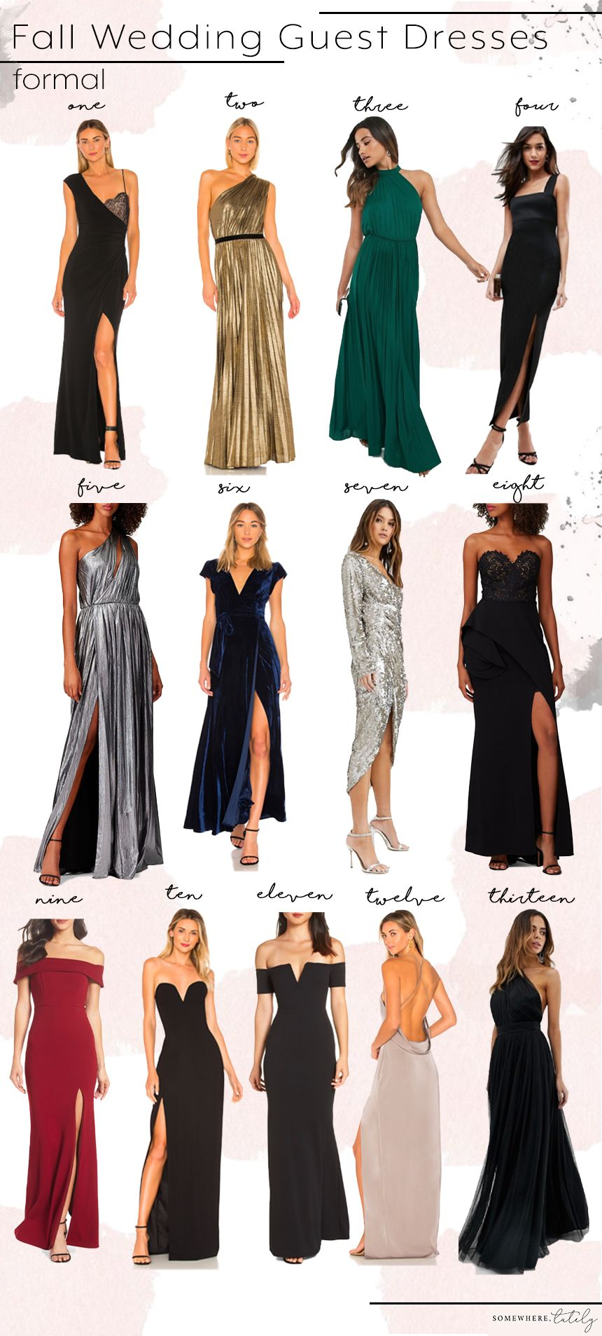 What To Wear To A Fall Wedding Somewhere Lately Fall Wedding Guest Dress Fall Wedding Outfits Wedding Guest Outfit Fall [ 1907 x 860 Pixel ]