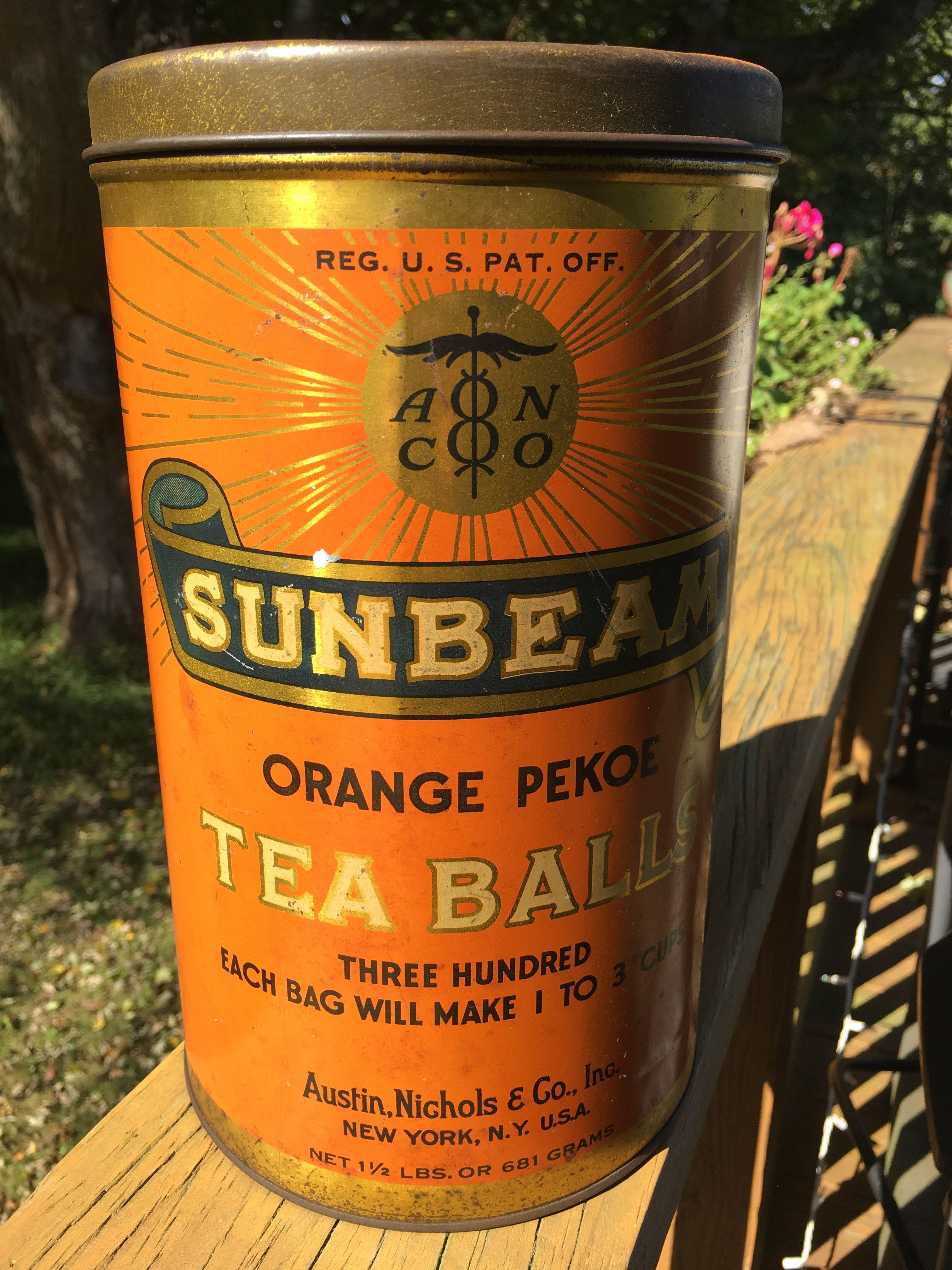 Sunbeam Orange Pekoe Tea Balls Orange Pekoe Tea Vintage Tea Tins Tea Tins