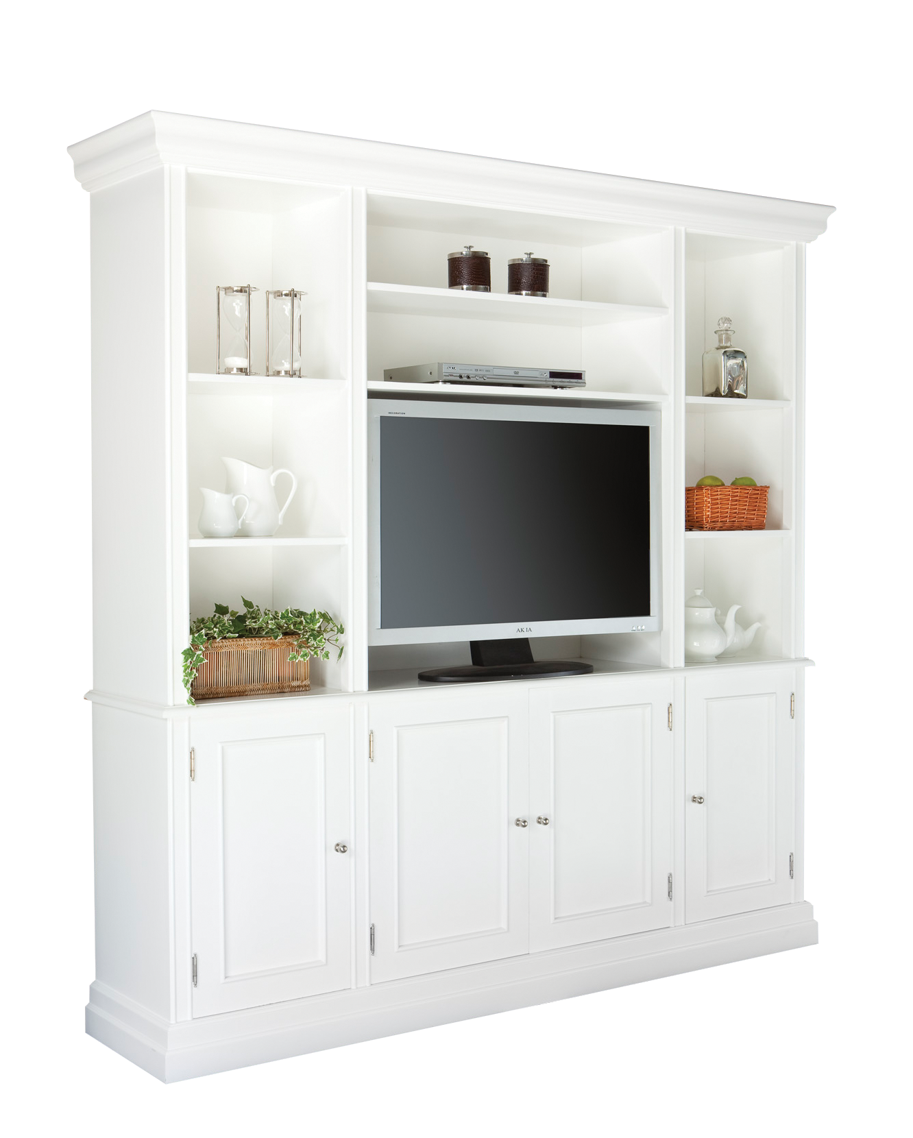 Hamptons Style Entertainment Unit Davenport Wall Unit White Hamptons Style In 2019