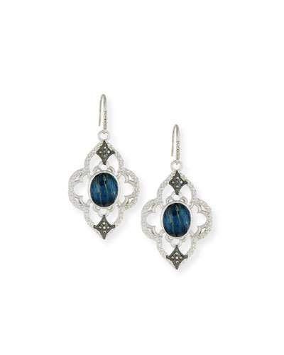 Armenta New World Pietersite Marquis Earrings with Diamonds eiOQFN