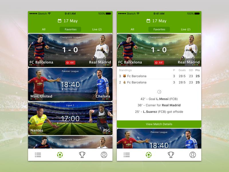 Livescore Match List Interactive Design User Experience Design Match List