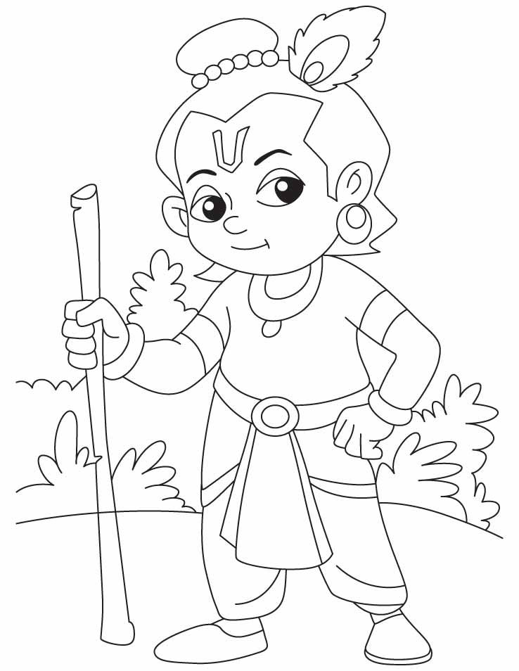 Lord Krishna Coloring Pages Projects To Try In 2019 Pinterest
