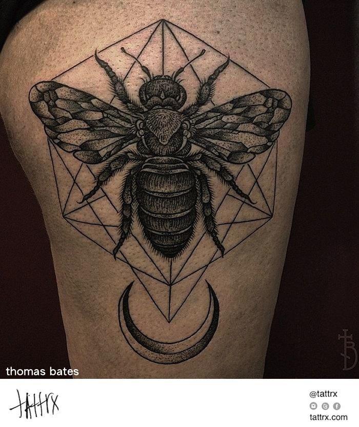Thomas Bates Tattoo - Bee for Abi