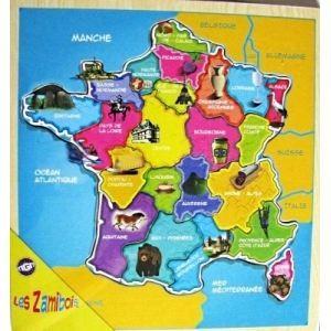 Lot 10 Puzzle Carte De France Region En Bois Jouet Achat Vente