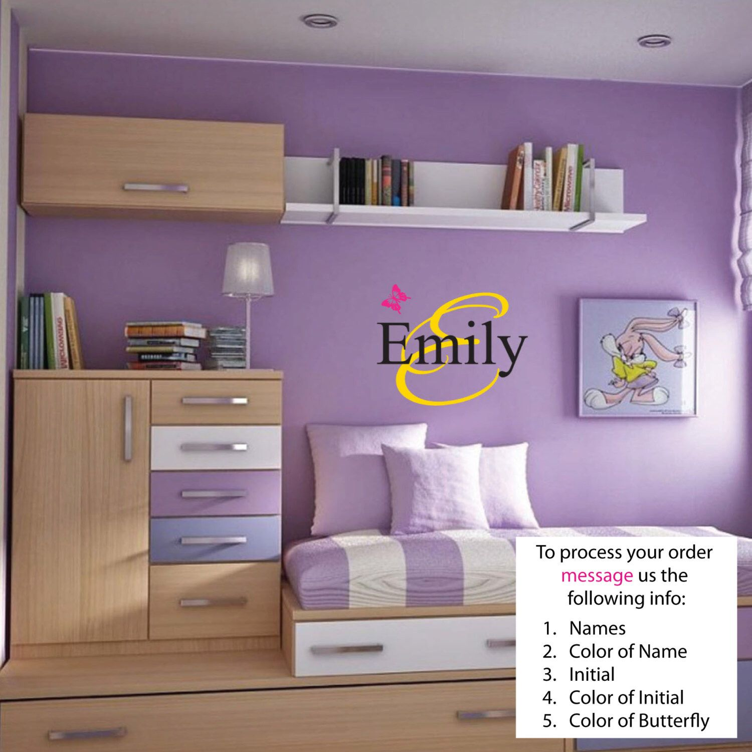 FREE SHIPPING Emily Name Wall Decal - Nursery Wall Decal - Teen Name Wall Decals - Personalized Wall Decals by BrittneysDesigns on Etsy https://www.etsy.com/listing/186287498/free-shipping-emily-name-wall-decal