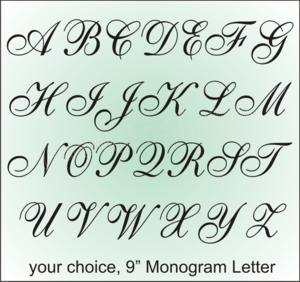 stencil designs a8 stencil english 9 monogram letter wedding family signs