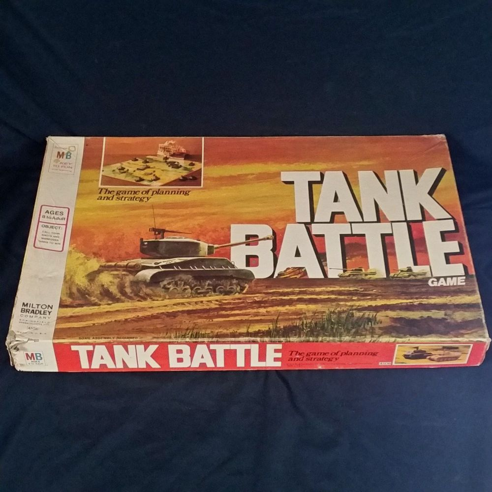 Tank Battle Board Game Vtg 1975 Milton Bradley War