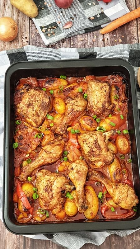 Hähnchenkeulen aus dem Ofen, Rezept