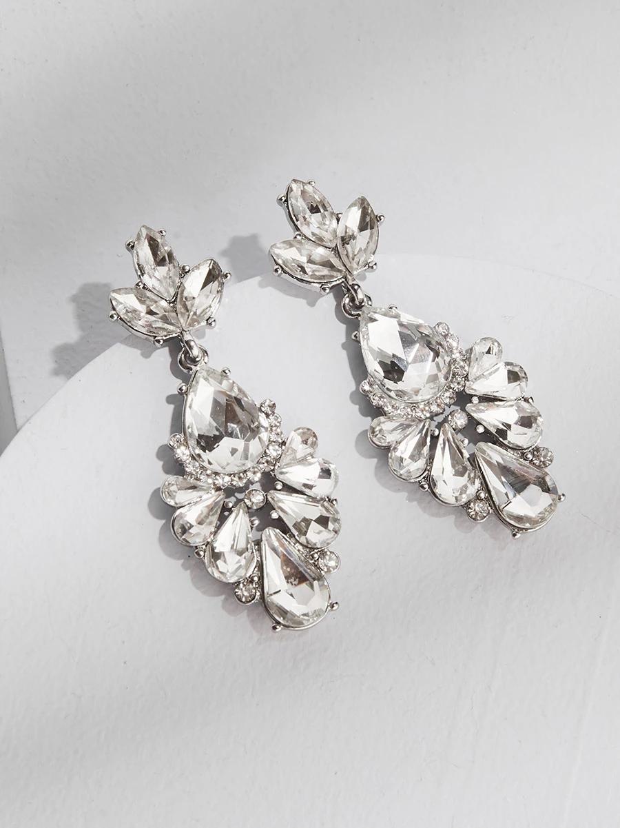 Dakota Drops Wedding Earrings Drop Silver Statement Earrings Bridal Jewelry