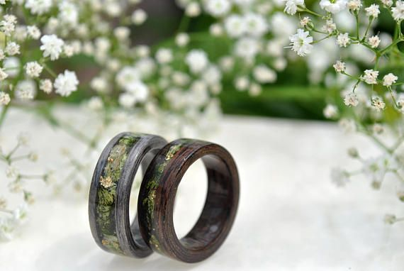 wood wood rings for men 5 Year Anniversary Wooden Engagement Rings wood rings for women mens wood wedding band mens wood ring wedding Exclusive rings from VyTvir, wooden rings in combination with real plants !!! I like to experiment, combine different materials to create new collections, masterpieces, exclusive jewelry. New co