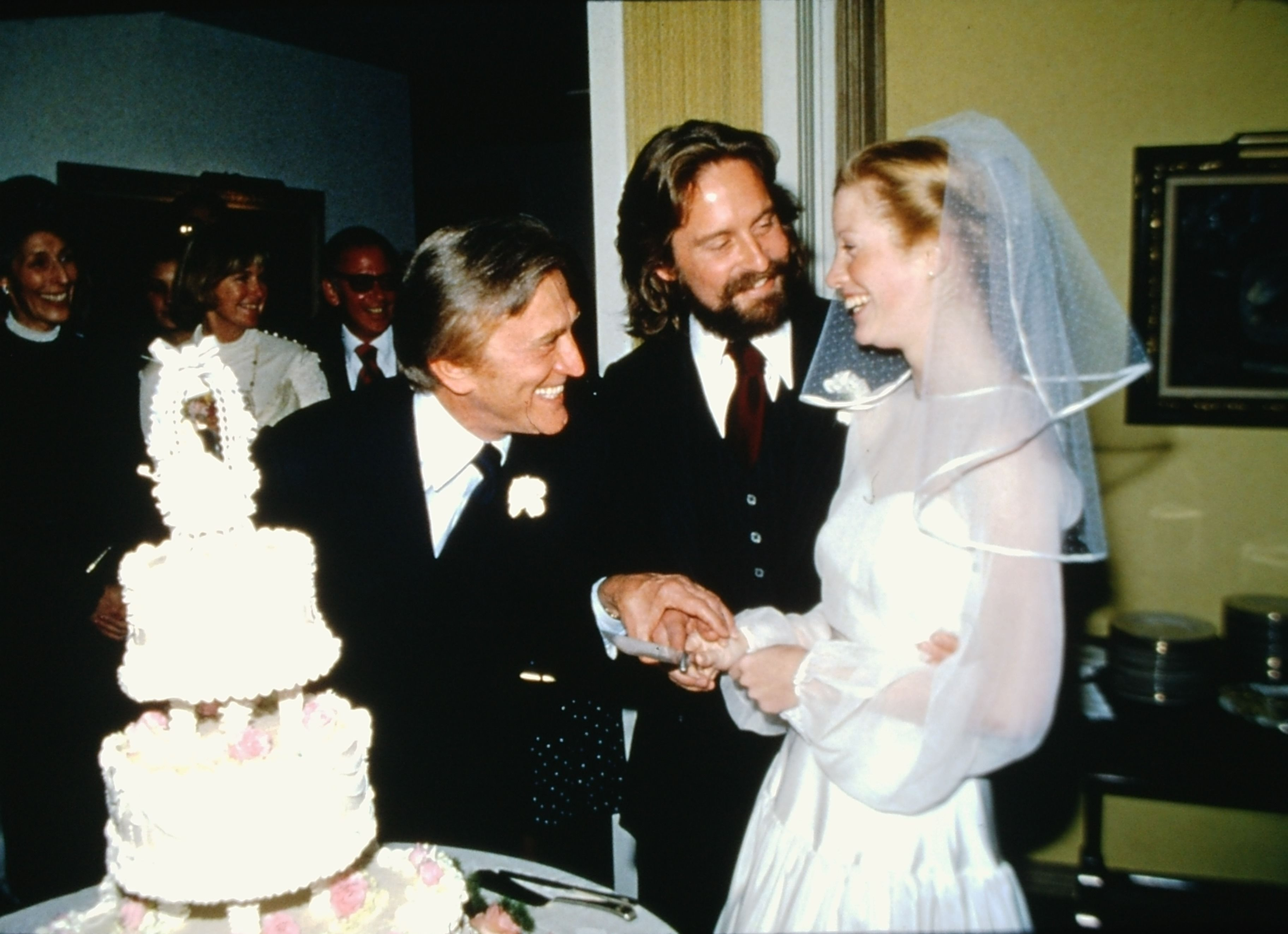 Kirk Douglas. Michael Douglas and Diandra Luker. 1977 ...